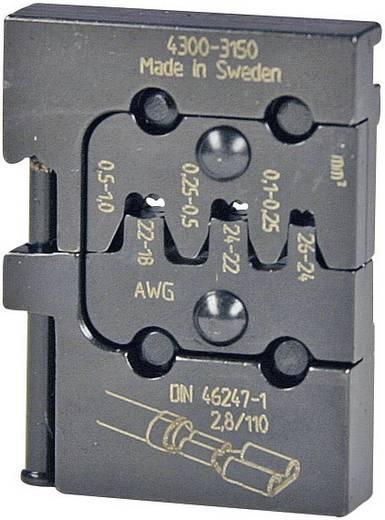 Crimpeinsatz Unisolierte Flachsteckhülsen 0.1 bis 1 mm² Pressmaster 4300-3150 4300-3150 Passend für Marke Pressmaster