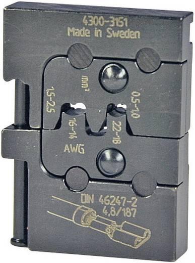 Crimpeinsatz Unisolierte Flachsteckhülsen 0.5 bis 2.5 mm² Pressmaster 4300-3151 4300-3151 Passend für Marke Pressmast