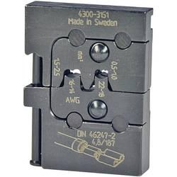 Krimpovací čelisti k plochým dutinkám Pressmaster, 0,50-1,0/1,5-2,5 mm²