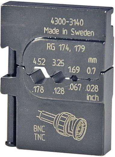 Crimpeinsatz Koaxial-Steckverbinder RG316 /U, RG303, RG188 A/U, RG187 A/U, RG180 B/U, RG179 B/U, RG179, RG174 A/U, RG174, RG122 /U Pressmaster 4300-3140 4300-3140 Passend für Marke Pressmaster MCT