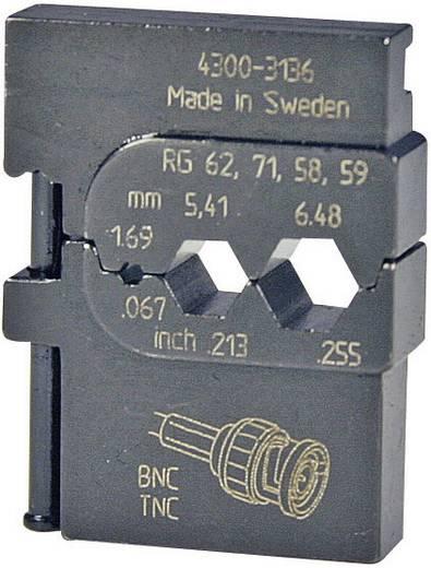 Crimpeinsatz Koaxial-Steckverbinder RG223 /U, RG210, RG142 B/U, RG108 A/U, RG71, RG62 A/U, RG62, RG59 B/U, RG59, RG58 C/U, RG58, 1695 Pressmaster 4300-3136 4300-3136 Passend für Marke Pressmaster MCT