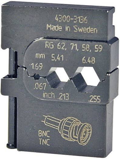 Crimpeinsatz Koaxial-Steckverbinder RG223 /U, RG210, RG142 B/U, RG108 A/U, RG71, RG62 A/U, RG62, RG59 B/U, RG59, RG58