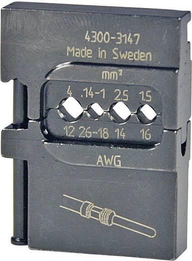 Crimpeinsatz Gedrehte Stiftsteckverbinder 0.14 bis 4 mm² Pressmaster 4300-3147 4300-3147 Passend für Marke Pressmaste