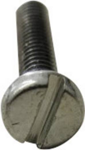 TOOLCRAFT 104339 Zylinderschrauben M10 12 mm Schlitz DIN 84 Stahl galvanisch verzinkt 100 St.