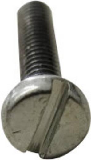 Zylinderschrauben M4 12 mm Schlitz Stahl galvanisch verzinkt, gelb chromatisiert 2000 St. TOOLCRAFT 104401