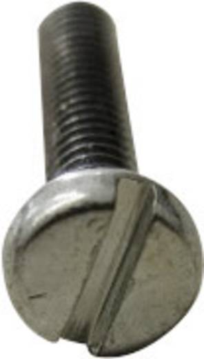 Zylinderschrauben M6 20 mm Schlitz DIN 84 Stahl galvanisch verzinkt, gelb chromatisiert 1000 St. TOOLCRAFT 104429