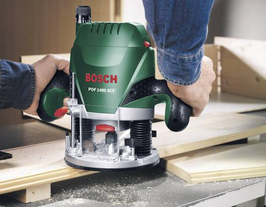 Oberfräse inkl. Koffer 1400 W Bosch Home and Garden POF 1400 ACE