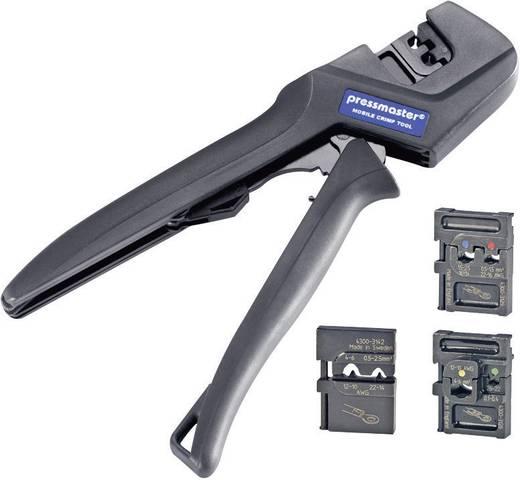Pressmaster Crimpzangen-Set 4teilig Isolierte Kabelschuhe, Unisolierte Kabelschuhe 0.1 bis 6 mm²