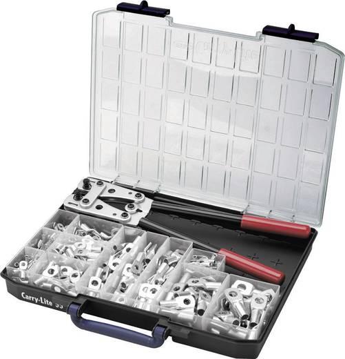 Cimco 181545 Presszangen-Set 255teilig Rohrkabelschuhe 6 bis 50 mm²