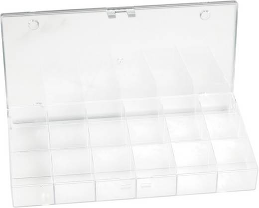 Sortimentskasten (L x B x H) 194 x 31 x 101 mm Anzahl Fächer: 18 feste Unterteilung