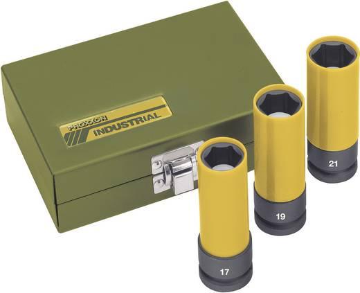 "Außen-Sechskant Kraft-Steckschlüsseleinsatz-Set 3teilig 1/2"" (12.5 mm) Produktabmessung, Länge 85 mm Proxxon Industr"