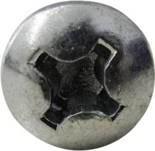 Linsenblechschrauben 3.9 mm 9.5 mm Kreuzschlitz Philips DIN 7981 ISO 7049 Stahl verzinkt 100 St. TOOLCRAFT 815071