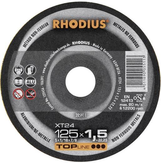Trennscheibe gerade 125 mm 22.23 mm Rhodius XT 24 205911 1 St.
