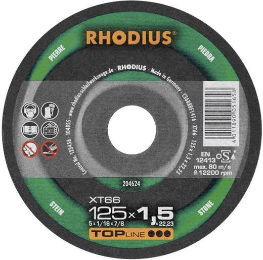 Trennscheibe gerade 125 mm 22.23 mm Rhodius XT 66 204624 1 St.