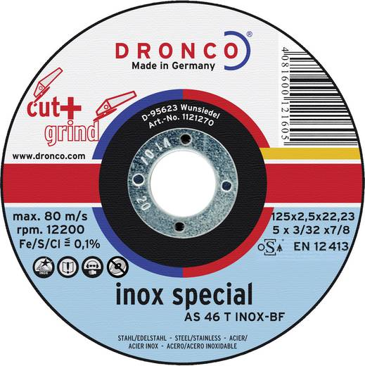 Dronco 1123270-100 Trenn- und Schruppscheibe AS 46 T INOX Cut+Grind Ø 125 mm 1 St.