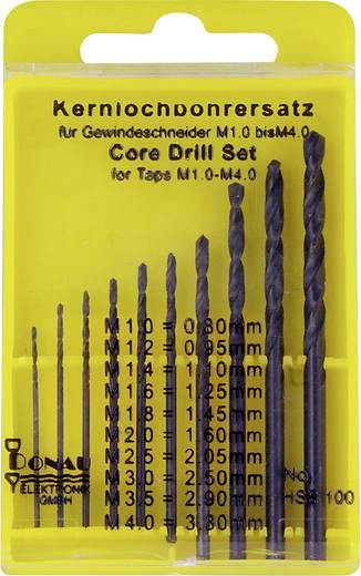HSS Kernlochbohrer-Set 10teilig Donau Elektronik HSS100 DIN 338 Zylinderschaft 1 Set