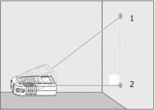 """TOOLCRAFT LDM 70 Laser-Entfernungsmesser Stativadapter 6.3 mm (1/4"""") Messbereich (max.) 70 m Kalibriert nach: Werksstand"""