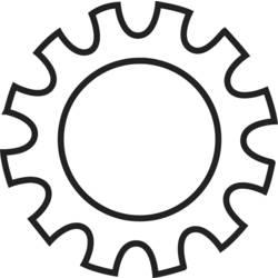 Podložky ozubené TOOLCRAFT 815292, N/A, vnitřní Ø: 2.2 mm, 100 ks