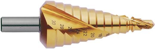 HSS Stufenbohrer-Set 3teilig 4 - 12 mm, 4 - 20 mm, 6 - 30 mm TiN Exact 07014 3-Flächenschaft 1 Set