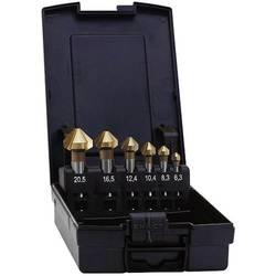 Sada kužeľových záhlbníkov 5-dielna HSS TiN Exact 05568, valcová stopka, 6.3 mm, 10.4 mm, 16.5 mm, 20.5 mm, 25 mm, 1 sada