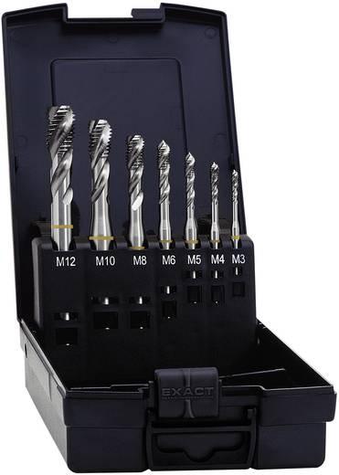 Exact 05112 Maschinengewindebohrer-Set 7teilig metrisch Rechtsschneidend DIN 371 HSS Form B 1 Set