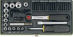"Sada nástrčných klíčů a bitů Proxxon Industrial 23070, 1/4"" (6,3 mm), 39dílná"
