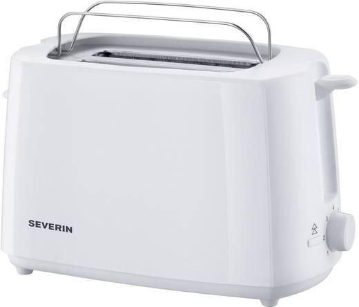 Severin AT2288 Toaster mit eingebautem Brötchenaufsatz Weiß