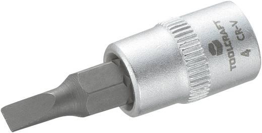 """Schlitz Steckschlüssel-Bit-Einsatz 4 mm 1/4"""" (6.3 mm) Produktabmessung, Länge 37 mm TOOLCRAFT 816061"""