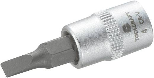 """TOOLCRAFT 816061 Schlitz Steckschlüssel-Bit-Einsatz 4 mm 1/4"""" (6.3 mm)"""