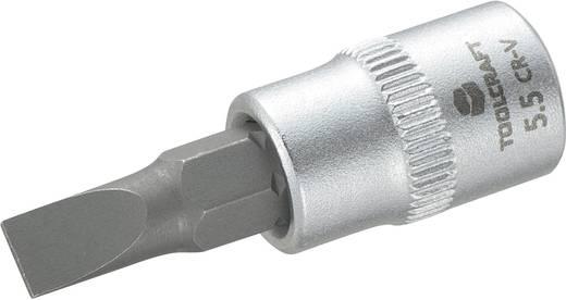 """Schlitz Steckschlüssel-Bit-Einsatz 5.5 mm 1/4"""" (6.3 mm) TOOLCRAFT 816062"""