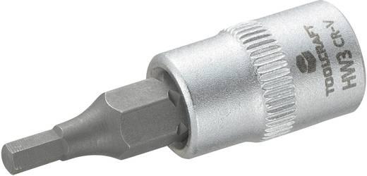 """Innen-Sechskant Steckschlüssel-Bit-Einsatz 3 mm 1/4"""" (6.3 mm) TOOLCRAFT 816068"""