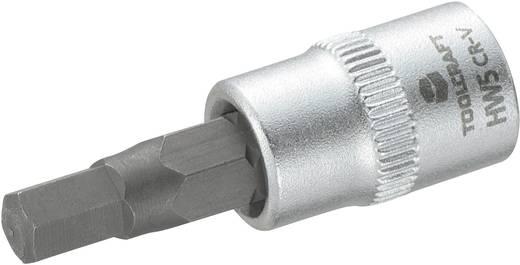 """Innen-Sechskant Steckschlüssel-Bit-Einsatz 5 mm 1/4"""" (6.3 mm) TOOLCRAFT 816070"""