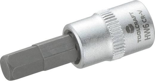 """Innen-Sechskant Steckschlüssel-Bit-Einsatz 6 mm 1/4"""" (6.3 mm) TOOLCRAFT 816071"""