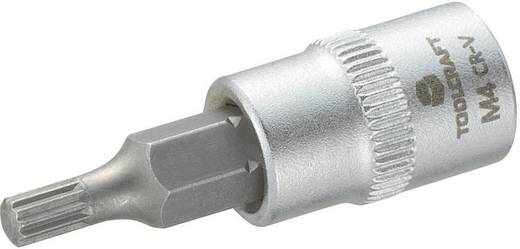 """TOOLCRAFT M4 816073 Innen-Vielzahn (XZN) Steckschlüssel-Bit-Einsatz 4 mm 1/4"""" (6.3 mm)"""