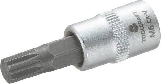 """Innen-Vielzahn (XZN) Steckschlüssel-Bit-Einsatz 6 mm 1/4"""" (6.3 mm) TOOLCRAFT M6 816075"""