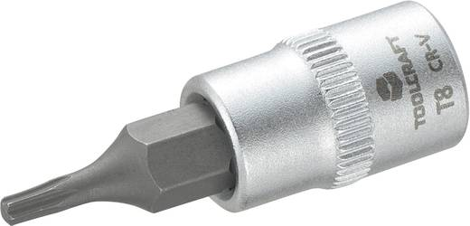 """TOOLCRAFT T8 816078 T-Profil Steckschlüssel-Bit-Einsatz T 8 1/4"""" (6.3 mm)"""