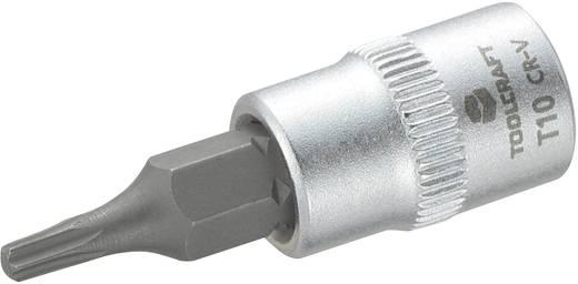 """T-Profil Steckschlüssel-Bit-Einsatz T 10 1/4"""" (6.3 mm) Produktabmessung, Länge 37 mm TOOLCRAFT 816080"""