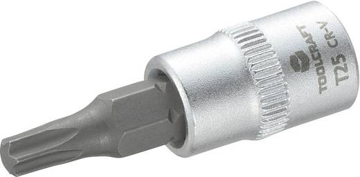 """T-Profil Steckschlüssel-Bit-Einsatz T 27 1/4"""" (6.3 mm) TOOLCRAFT T-profil T27 816084"""