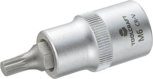 """TOOLCRAFT 816086 Innen-Vielzahn (XZN) Steckschlüssel-Bit-Einsatz 6 mm 1/2"""" (12.5 mm)"""