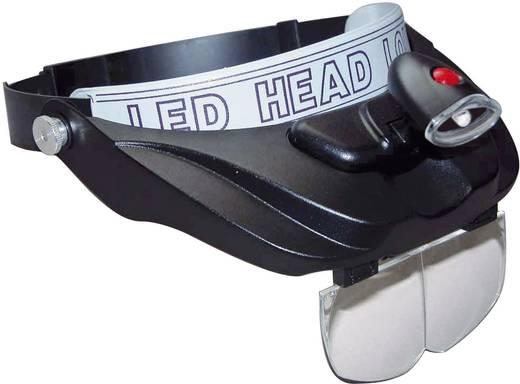 Kopflupe mit LED-Beleuchtung Vergrößerungsfaktor: 1.2 x, 1.8 x, 2.5 x, 3.5 x