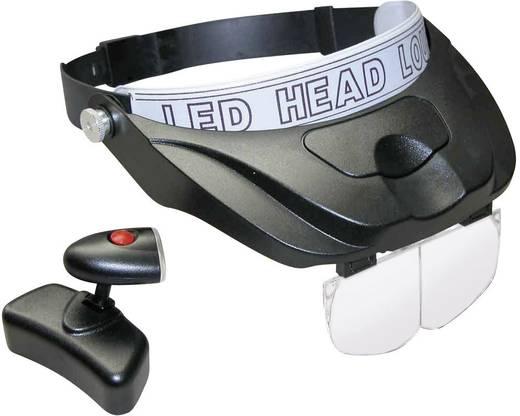 Kopflupe mit LED-Beleuchtung Vergrößerungsfaktor: 1.2 x, 1.8 x, 2.5 x, 3.5 x RONA 450502