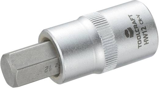 """TOOLCRAFT 816160 Innen-Sechskant Steckschlüssel-Bit-Einsatz 12 mm 1/2"""" (12.5 mm)"""