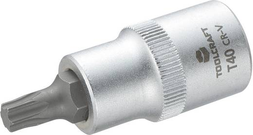 """Innen-TORX Steckschlüssel-Bit-Einsatz T 40 1/2"""" (12.5 mm) Produktabmessung, Länge 55 mm TOOLCRAFT 816166"""