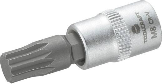 """Innen-Vielzahn (XZN) Steckschlüssel-Bit-Einsatz 8 mm 1/4"""" (6.3 mm) Produktabmessung, Länge 37 mm TOOLCRAFT 816197"""
