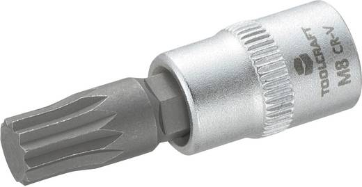 """TOOLCRAFT 816197 Innen-Vielzahn (XZN) Steckschlüssel-Bit-Einsatz 8 mm 1/4"""" (6.3 mm)"""