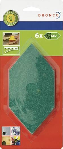 Dronco Nachfüllpack 6 St.Schleifblätter Grob 6780230 Passend für Sechseck-Schleifer 150 x 75 mm