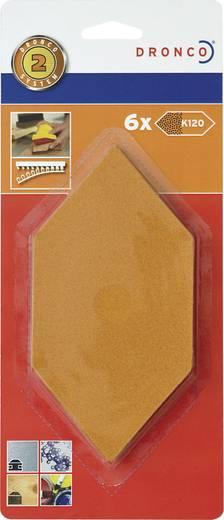 Dronco Nachfüllpack 6 St.Schleifblätter Mittel 6780231 Passend für Sechseck-Schleifer 150 x 75 mm