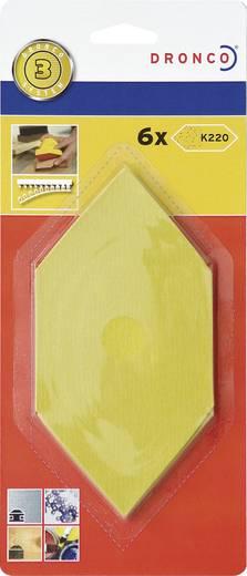Dronco Nachfüllpack 6 St.Schleifblätter Fein 6780232 Passend für Sechseck-Schleifer 150 x 75 mm