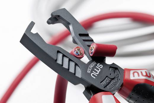 VDE-Abisolierzange Geeignet für Leiter mit Standard-Isolation 10 mm² (max) 8 bis 13 mm NWS Multicutter 3 in 1 1451-69-