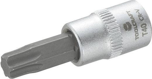 """TOOLCRAFT T40 816276 T-Profil Steckschlüssel-Bit-Einsatz T 40 1/4"""" (6.3 mm)"""